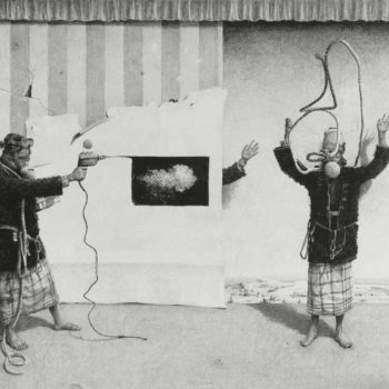 SOLD Boundary War Stage Play, 2017, Graphite on paper, 42 x 54 inches