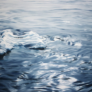 Zaria Forman, Winston Wachter Fine Art, Seattle, WA, art, gallery, iceberg, glacier, oil pastel, drawing, painting, nature, National Geographic, blue, ice, water, sky, global warming, climate change, melting,