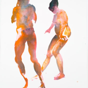 Untitled, 2014, Watercolor on paper, 26.5 x 21.875 inches