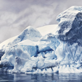 Zaria Forman, Whale Bay, Antarctica No. 4, 2016, Soft pastel on paper, 84 x 144 inches