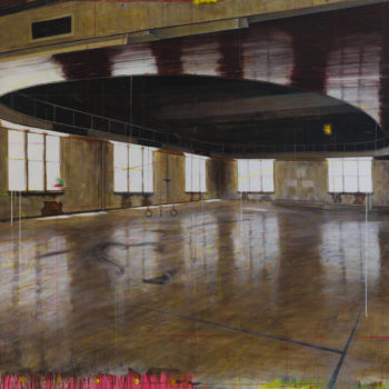 Old School Gym, 2016, Acrylic on panels, 72 x 96 inches