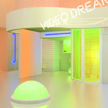 Neon Saltwater creates brightly-colored and neon-lit virtual spaces that evoke memory and nostalgia