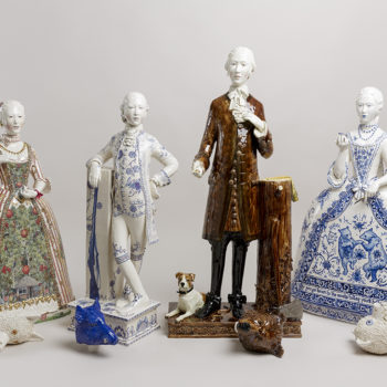 Claire Partington's ceramic sculptures from 'The Hunting Party'