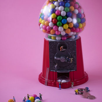Gumball Harvesters, 2018, archival pigment print on metallic paper, 24 x 36 inches and other various sizes