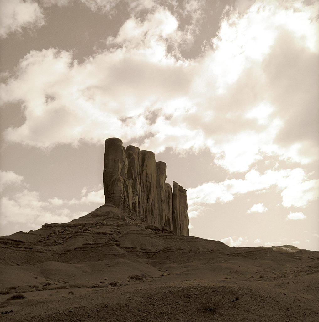 Butte, Monument Valley, Arizona 1995, 2009, Fine art archival print, 22 x 22 inches and 40 x 40 inches