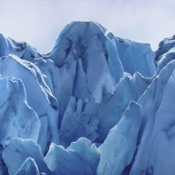 Perito Moreno Glacier no. 13, Argentina, December 13th, 2018, 2020, Soft pastel on paper, 68 x 77.75 inches