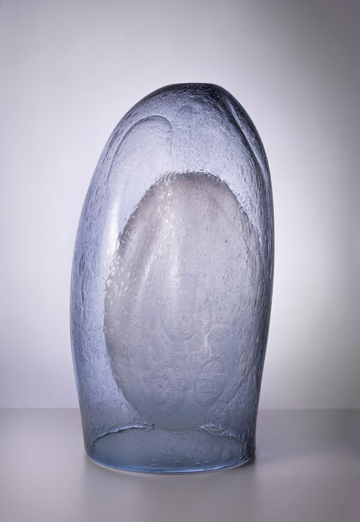 Table Wave 2, 2019, Blown glass, 23 x 12 x 13.5 inches