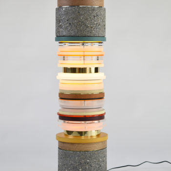 Ochre & Brass, 2020, Mixed Media, 30 x 8 x 8 inches