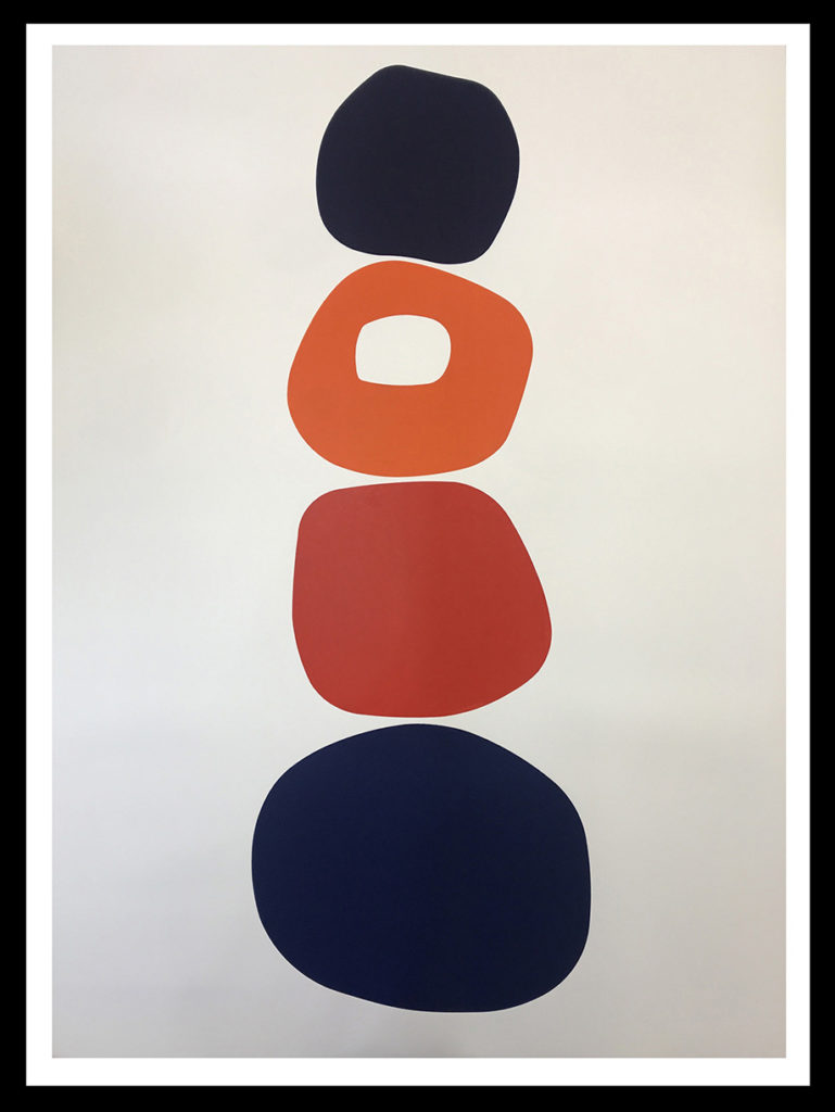 Fassaroe, 2021, Hand rubbed oil on Japanese paper, 54 x 39 inches (framed dimensions: 60 x 40 x 2 inches)