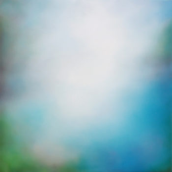 SOLD Pfeiffer Beach, 2021, Oil on polyster over panel, 36 x 36 x 2 inches