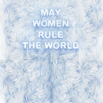 May Women Rule The World, 2021, Colored pencil on paper, 36 x 22 inches (Frame size: 39.5 x 26 x 1.5 inches)